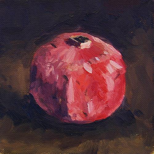 Pomegranate II - Impressionist Painting by Adam Houston