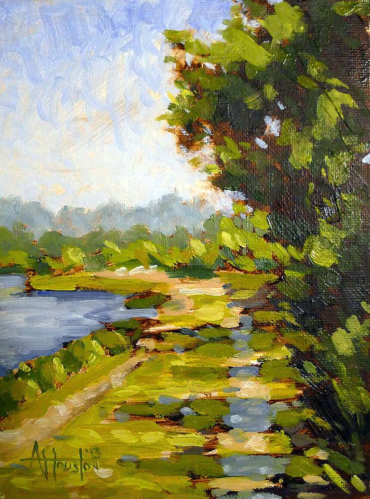 Egan's Creek Greenway II - Impressionist Painting by Adam Houston