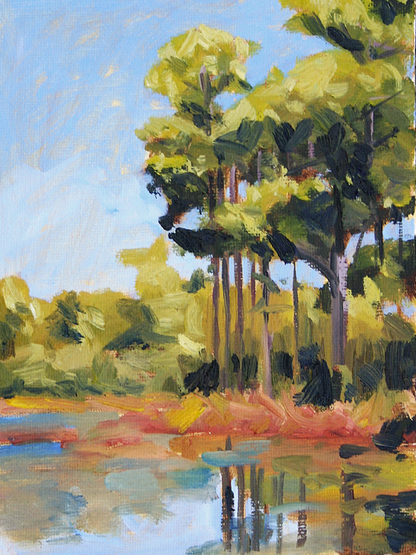 30a Pines III - Impressionist Painting by Adam Houston