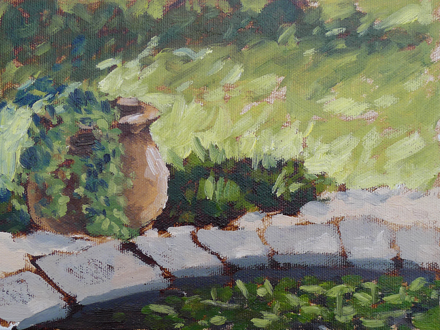 Potted Ivy - Impressionist Painting by Adam Houston
