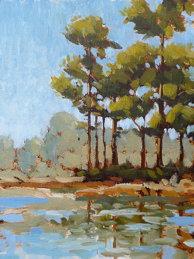 30a Pines V - Impressionist Painting by Adam Houston