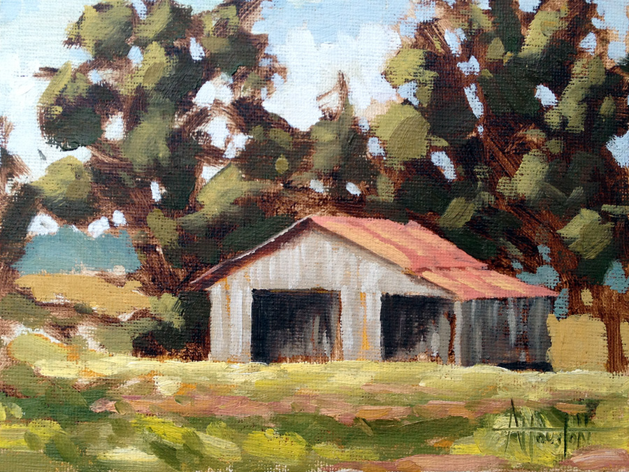 Barn VIII - Impressionist Painting by Adam Houston