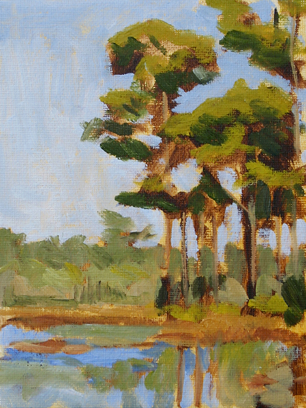 30a Pines II - Impressionist Painting by Adam Houston