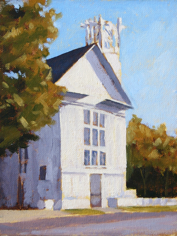 Seaside Chapel - Impressionist Painting by Adam Houston