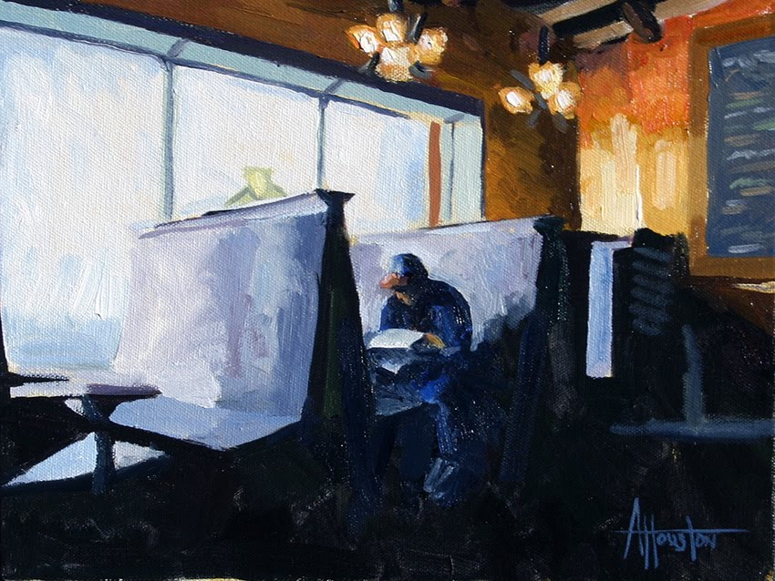 Table for One - Impressionist Painting by Adam Houston