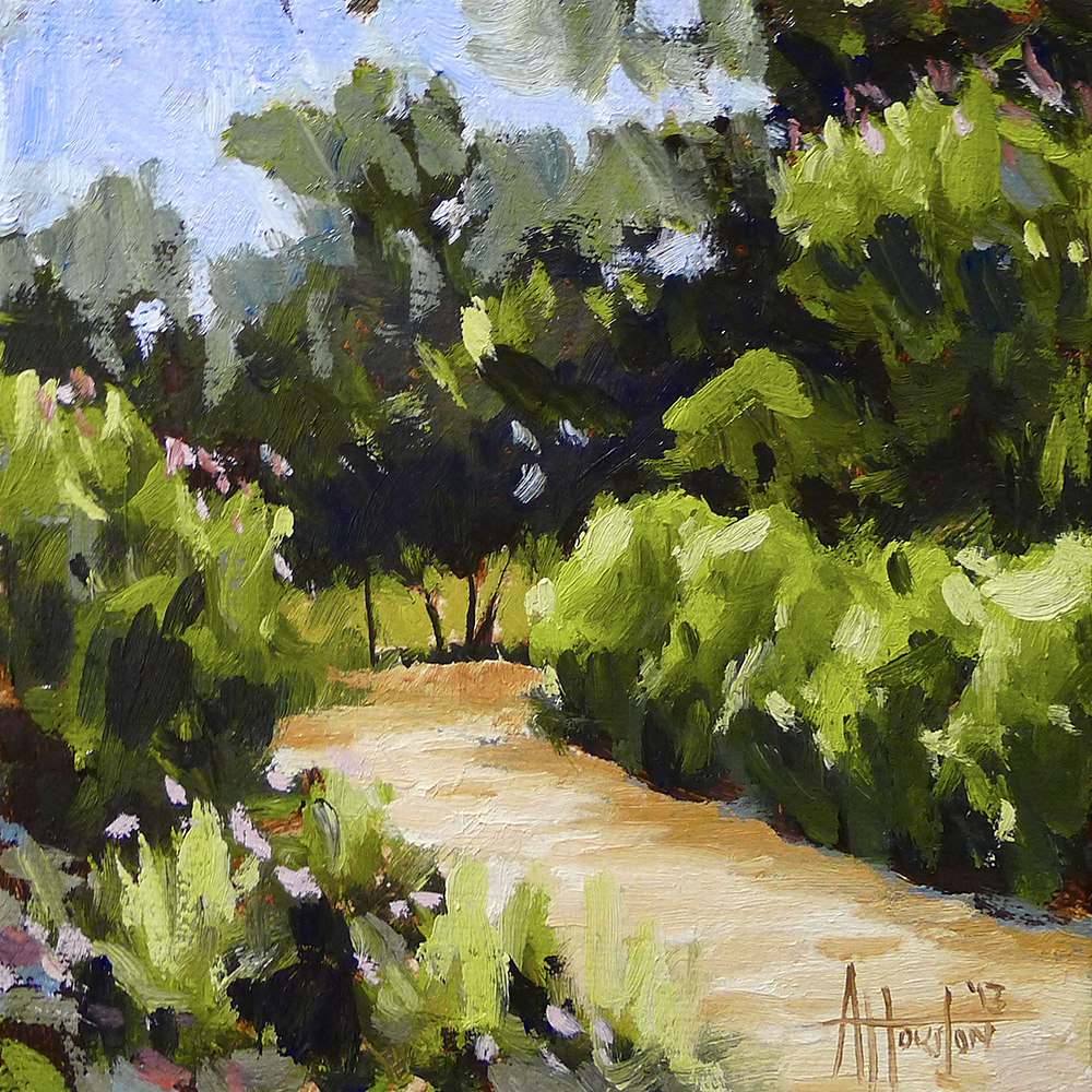 Barnsley Path - Impressionist Painting by Adam Houston