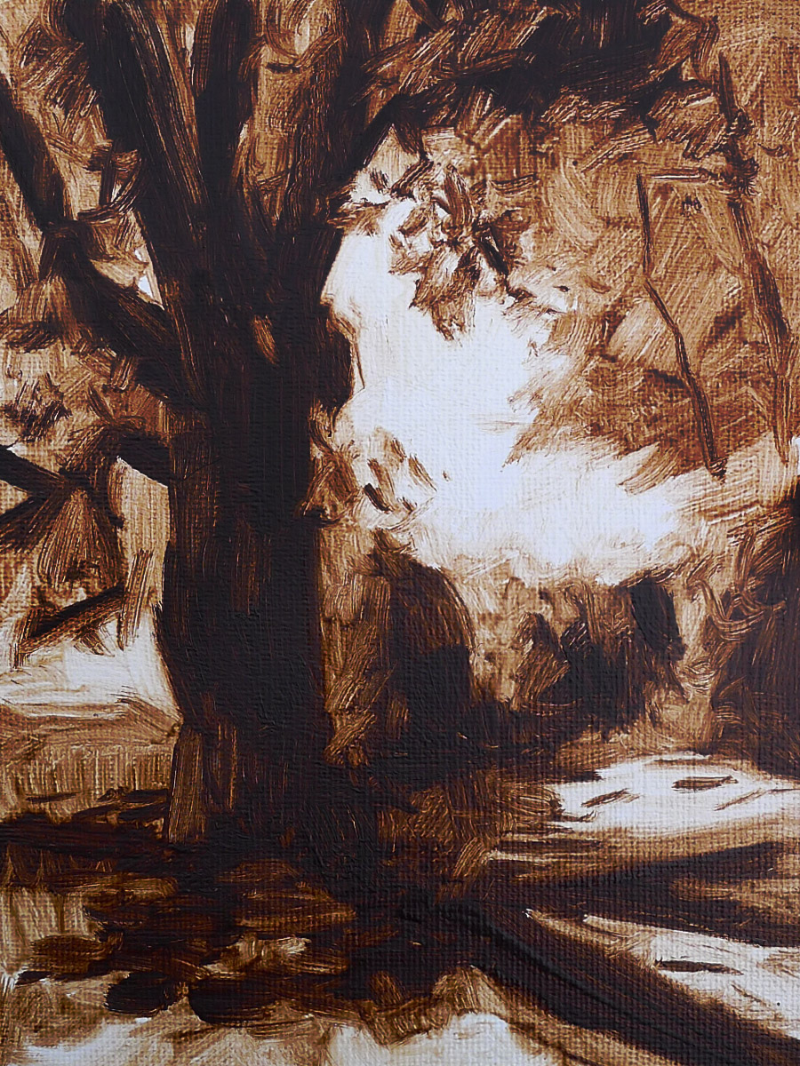 Barnsley Tree I - Impressionist Painting by Adam Houston