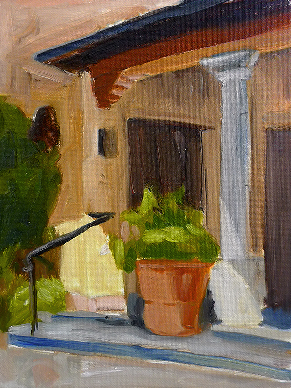 Early Morning Porch - Impressionist Painting by Adam Houston