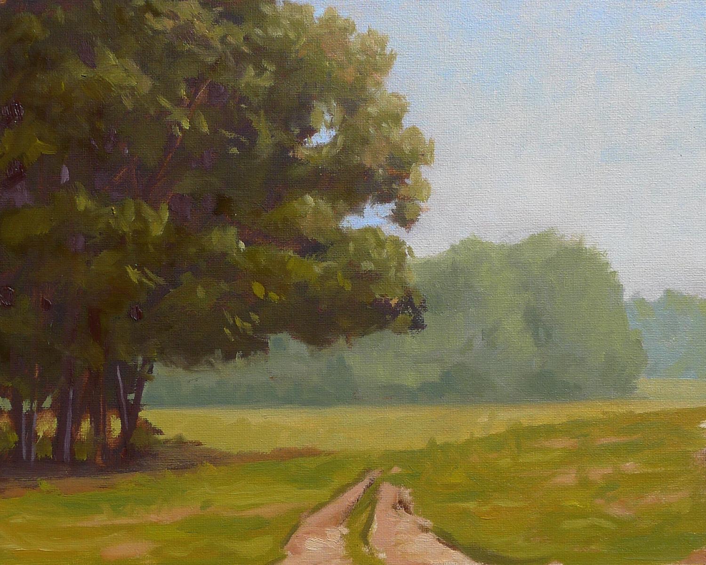 Summer Field II - Impressionist Painting by Adam Houston
