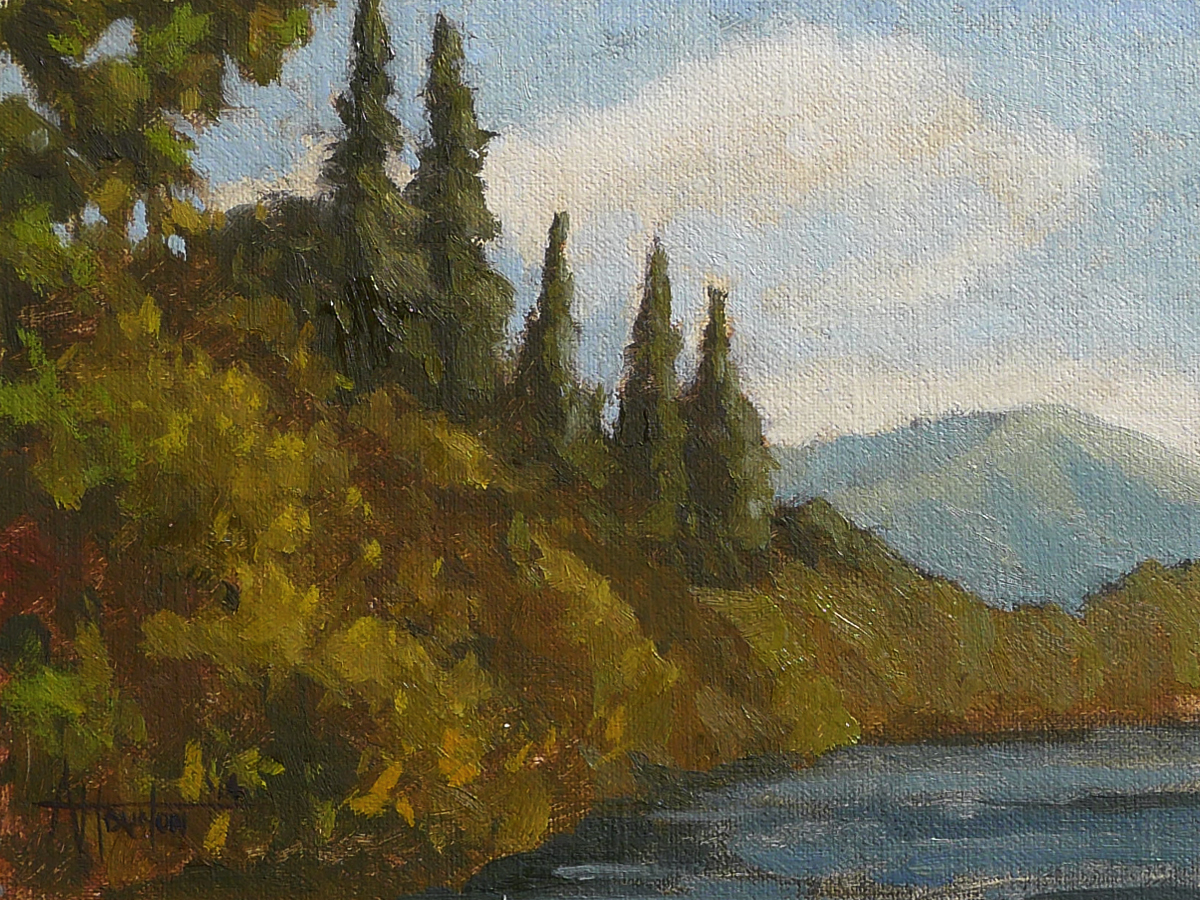 Lake View II - Impressionist Painting by Adam Houston