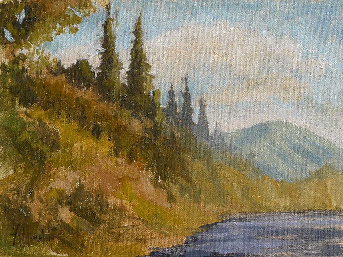 Lake View III - Impressionist Painting by Adam Houston