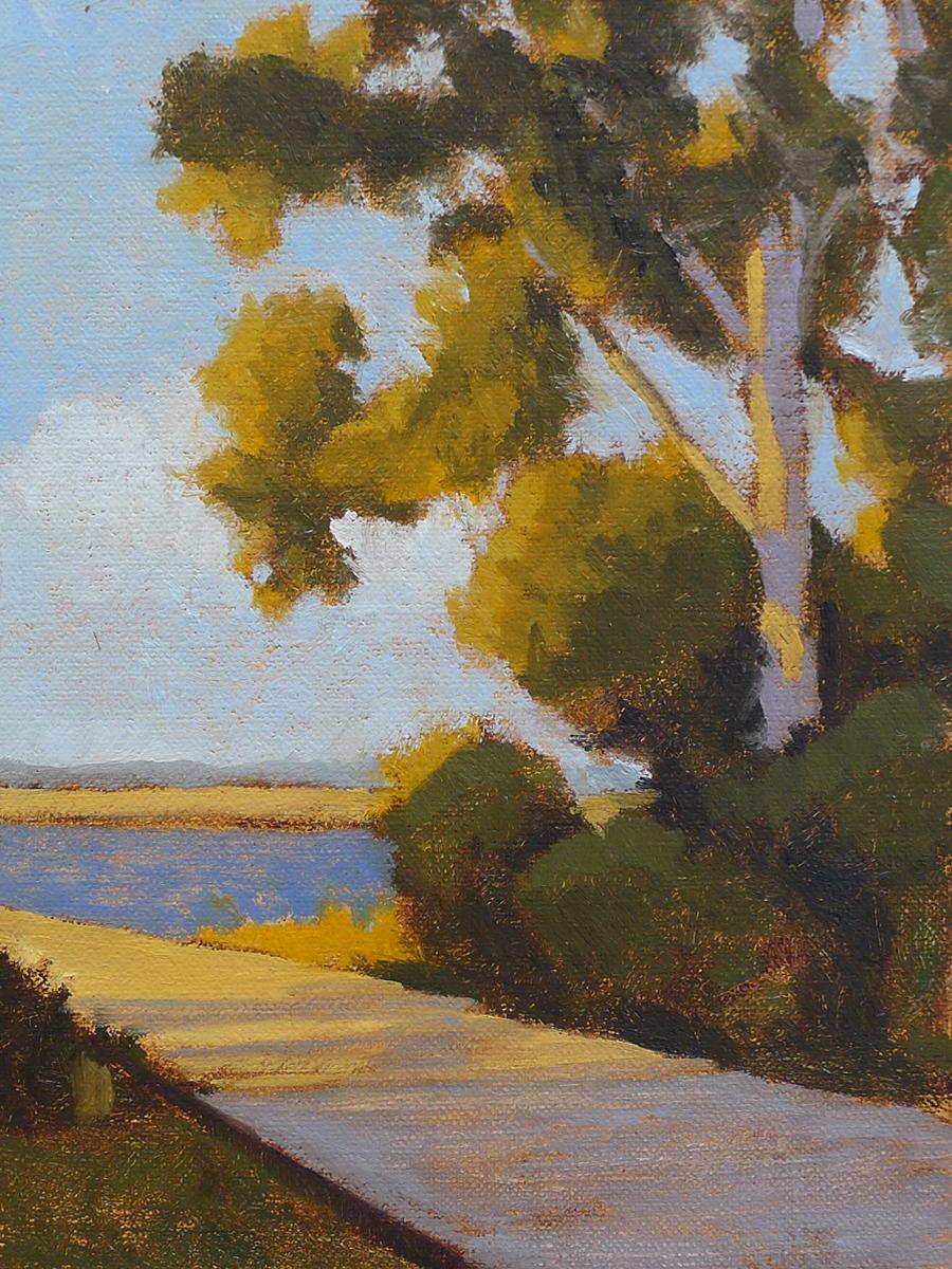 Marsh Pines II - Impressionist Painting by Adam Houston