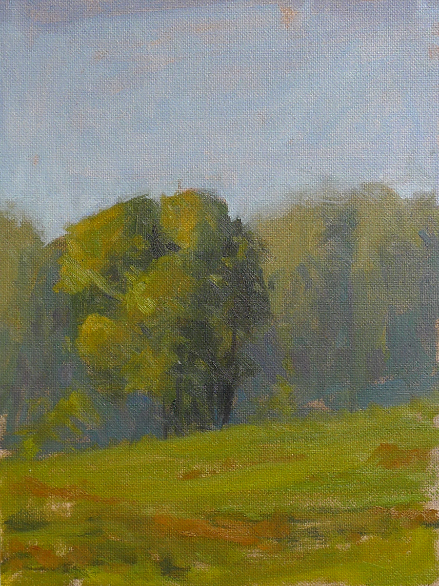 Chattanooga Valley Field - Impressionist Painting by Adam Houston