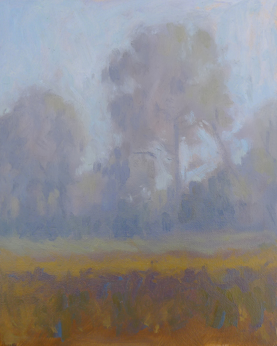 Morning Mist - Impressionist Painting by Adam Houston