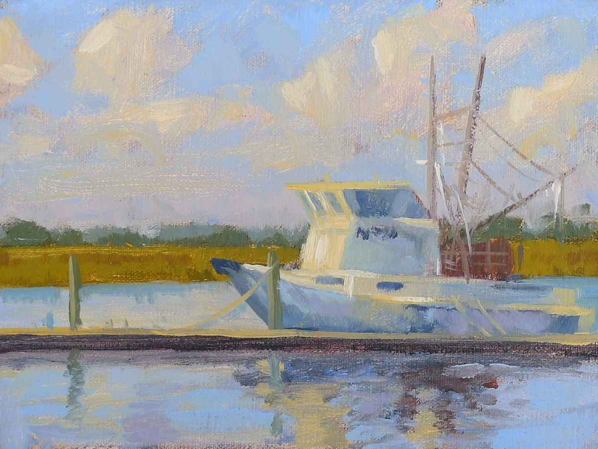 Morning Catch - Impressionist Painting by Adam Houston