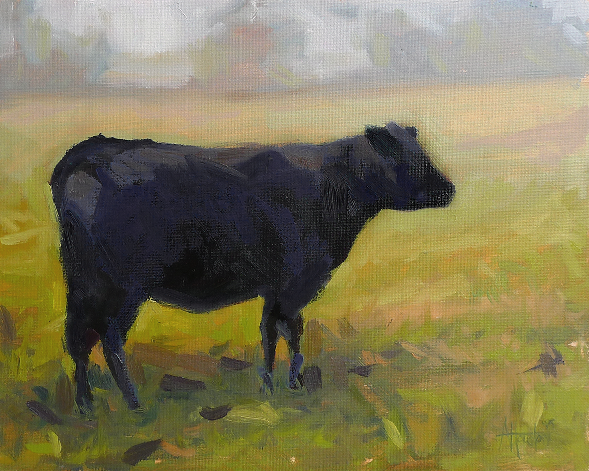 In the Field - Impressionist Painting by Adam Houston