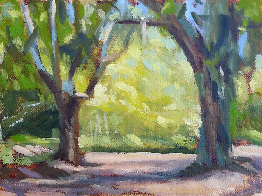 St. Simons Oaks II - Impressionist Painting by Adam Houston