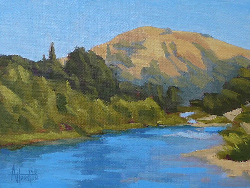 Along the South Fork - Impressionist Painting by Adam Houston