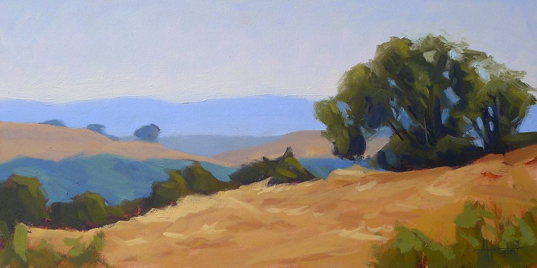 Napa Hills - Impressionist Painting by Adam Houston
