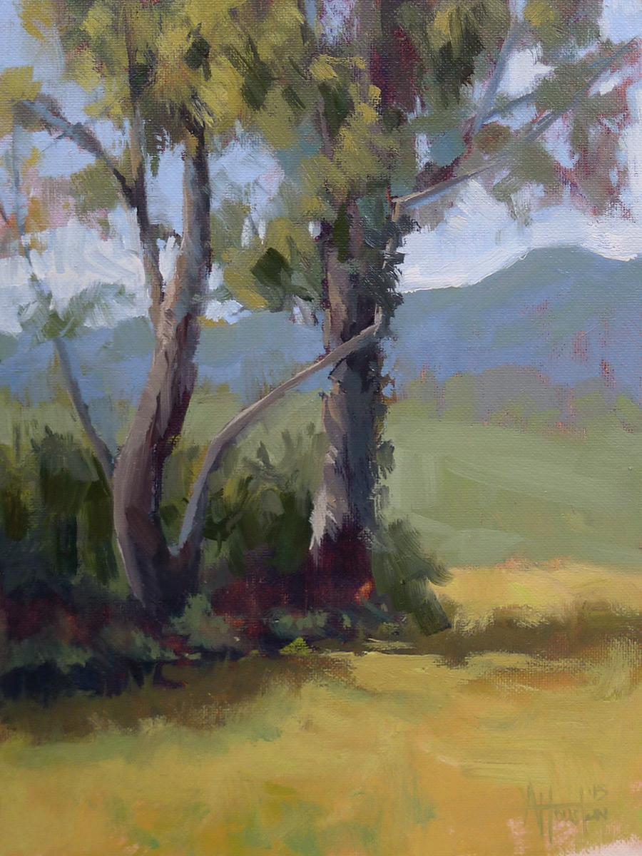 Brasstown Valley - Impressionist Painting by Adam Houston