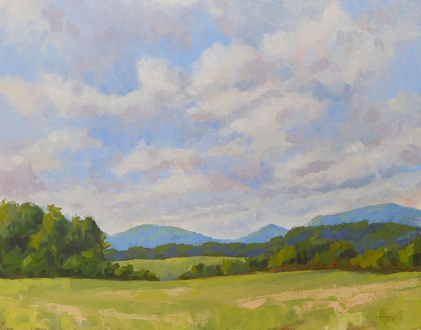 Morning Sky - Impressionist Painting by Adam Houston