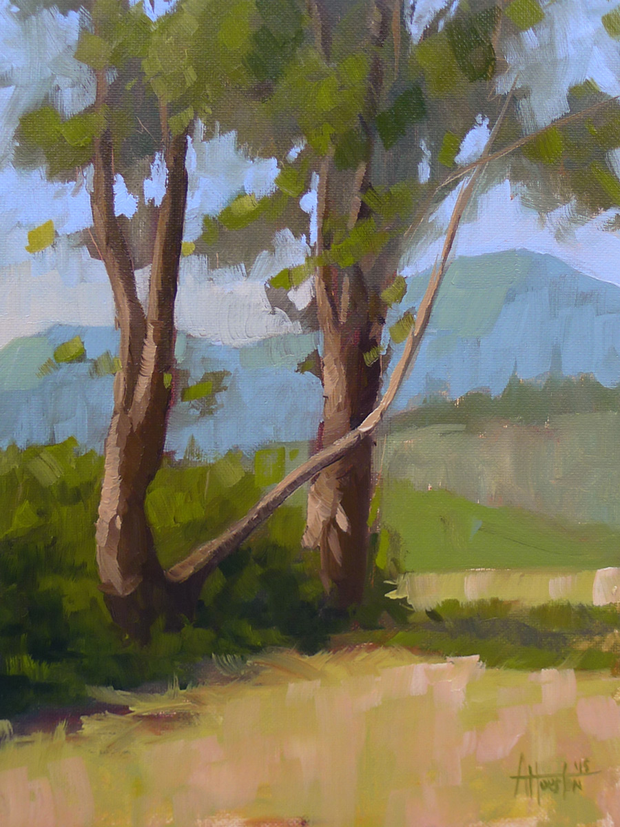 Brasstown Valley Trees III - Impressionist Painting by Adam Houston