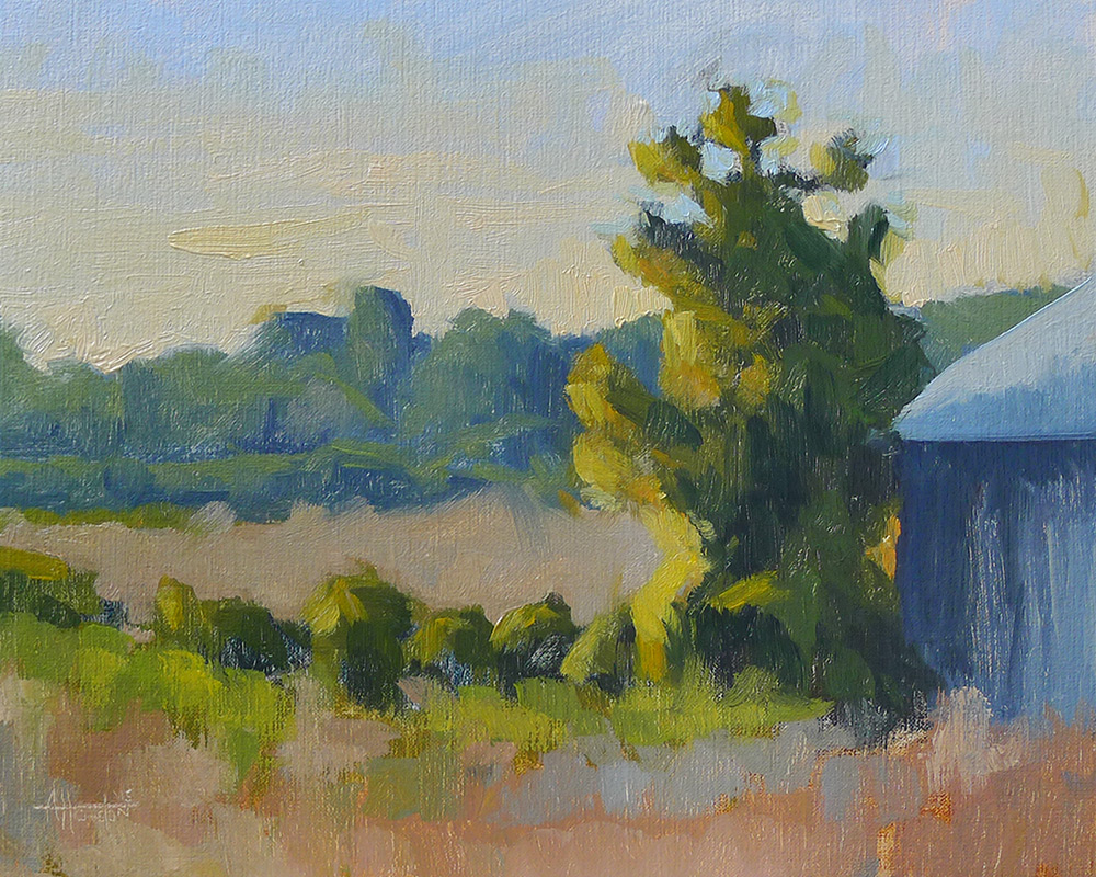 Caney Road Sunset - Impressionist Painting by Adam Houston