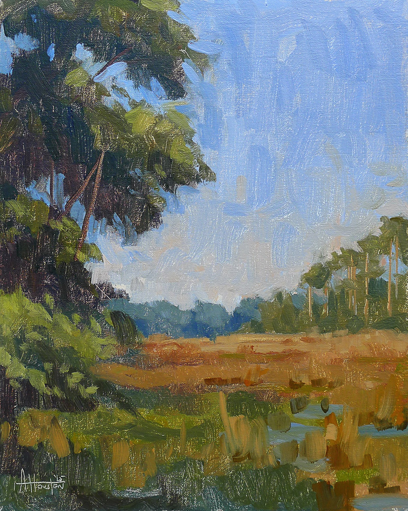 Bulow Creek Marsh - Impressionist Painting by Adam Houston