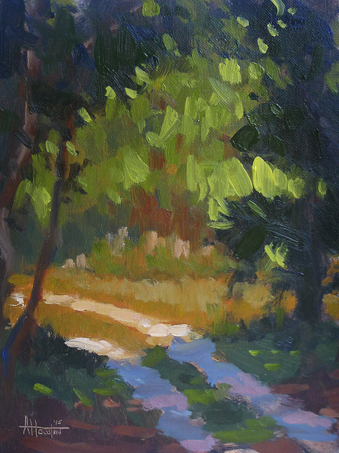 Bulow Creek Path - Impressionist Painting by Adam Houston