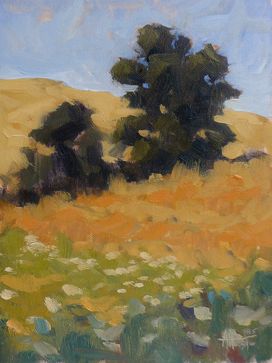 Deer Creek Field - Impressionist Painting by Adam Houston
