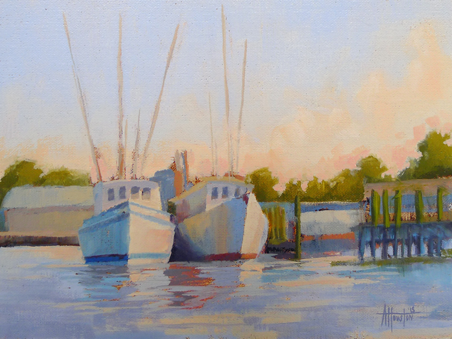 Amelia Sunrise - Impressionist Painting by Adam Houston