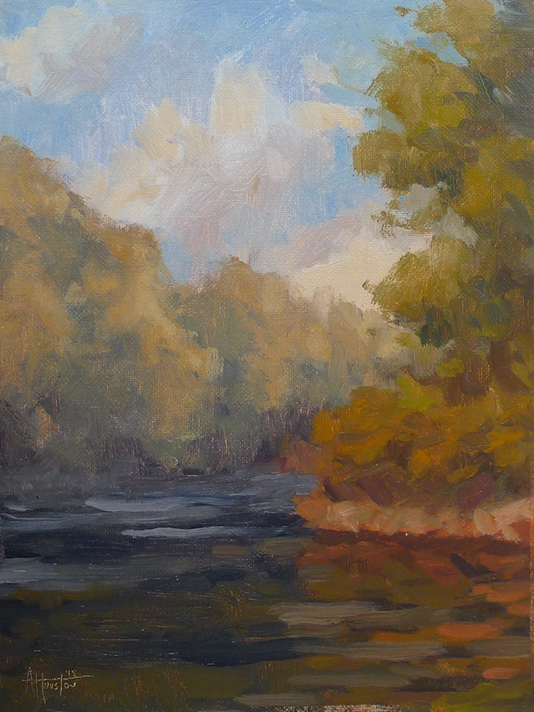 River Mist - Impressionist Painting by Adam Houston