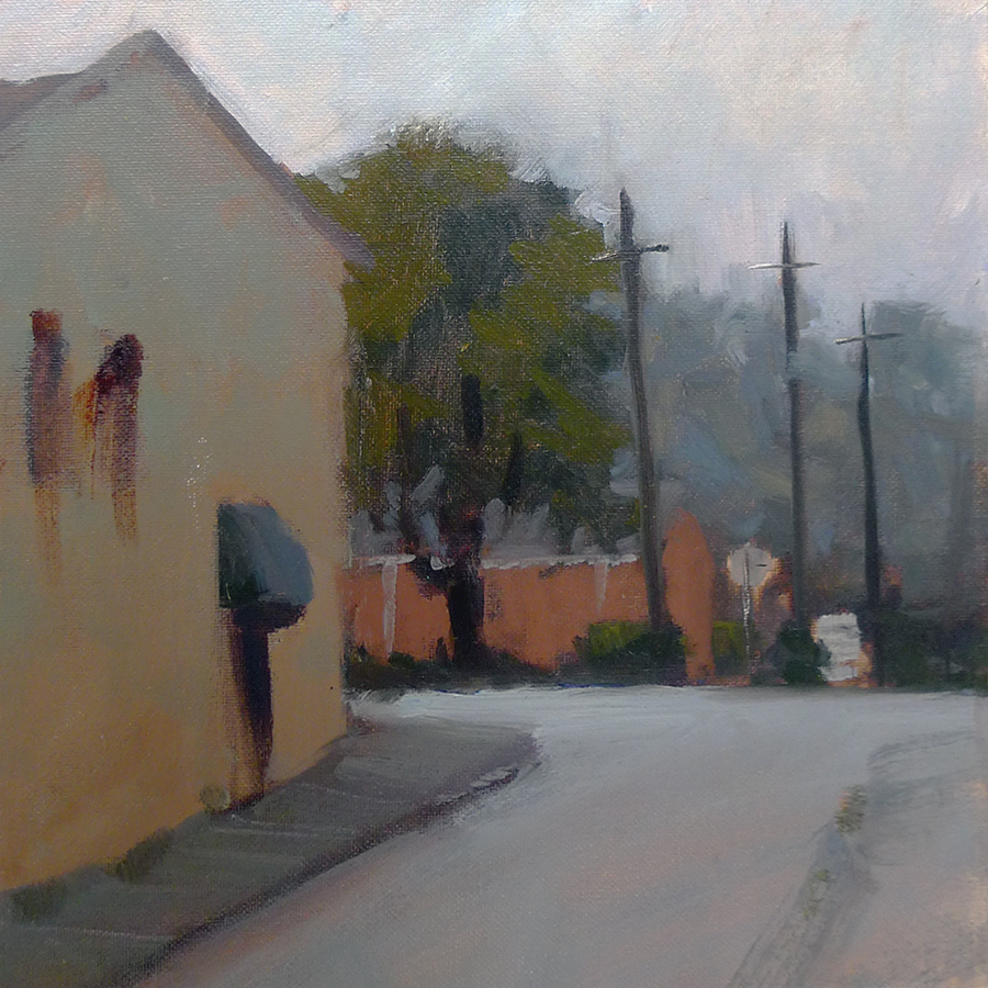 Standing in the Rain - Impressionist Painting by Adam Houston