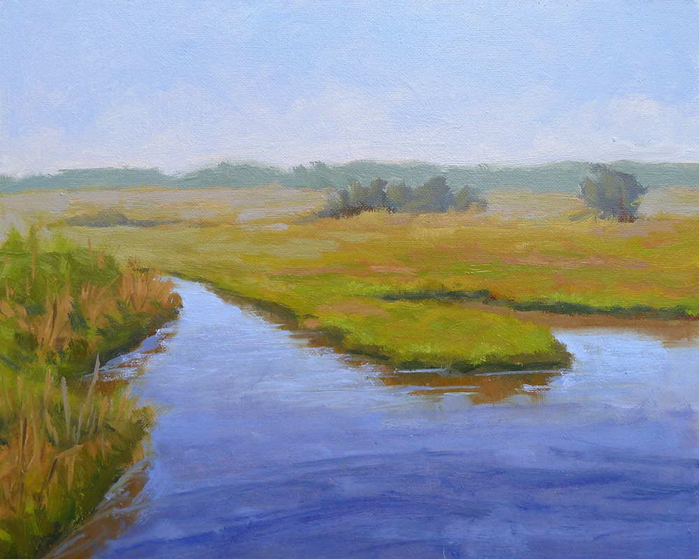 Revisiting the Marsh - Impressionist Painting by Adam Houston