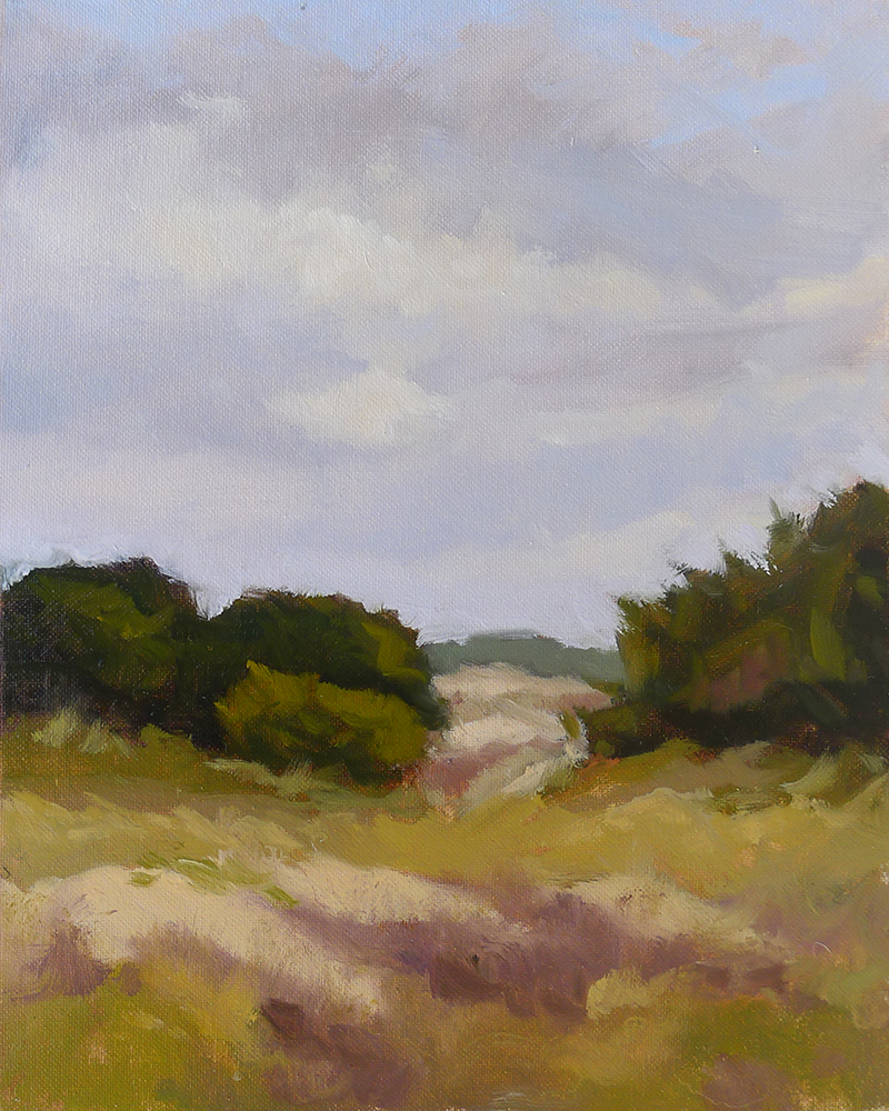 East Beach Dunes - Impressionist Painting by Adam Houston
