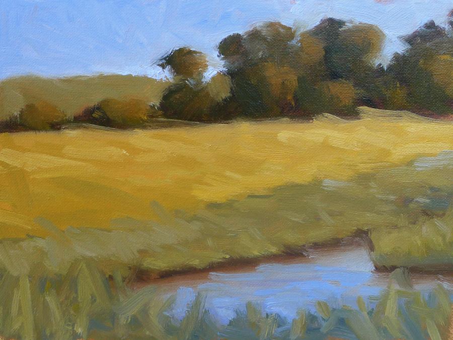 Jekyll Island Marsh - Impressionist Painting by Adam Houston