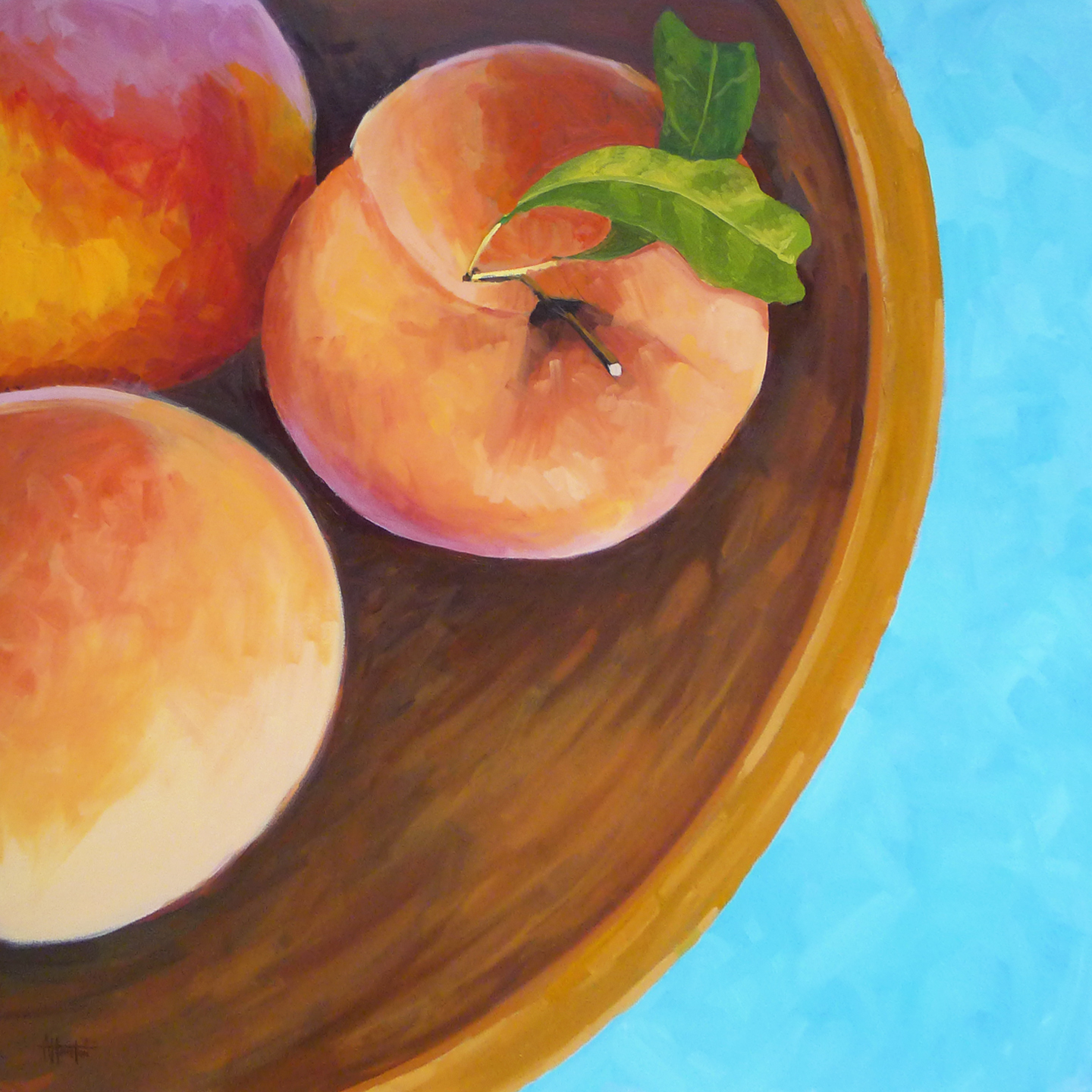 The Peach Bowl - Impressionist Painting by Adam Houston