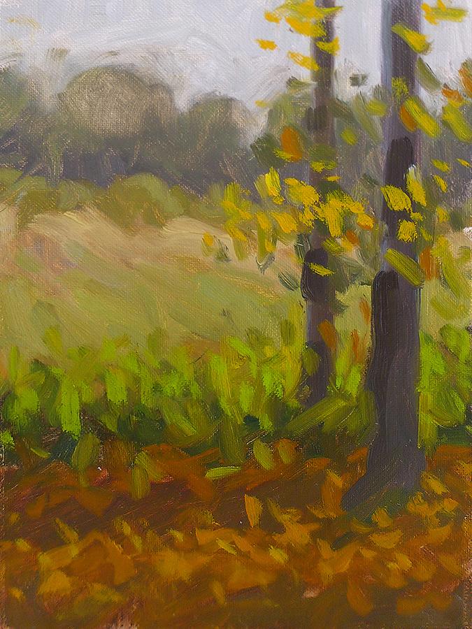 Haw Creek Trees - Impressionist Painting by Adam Houston