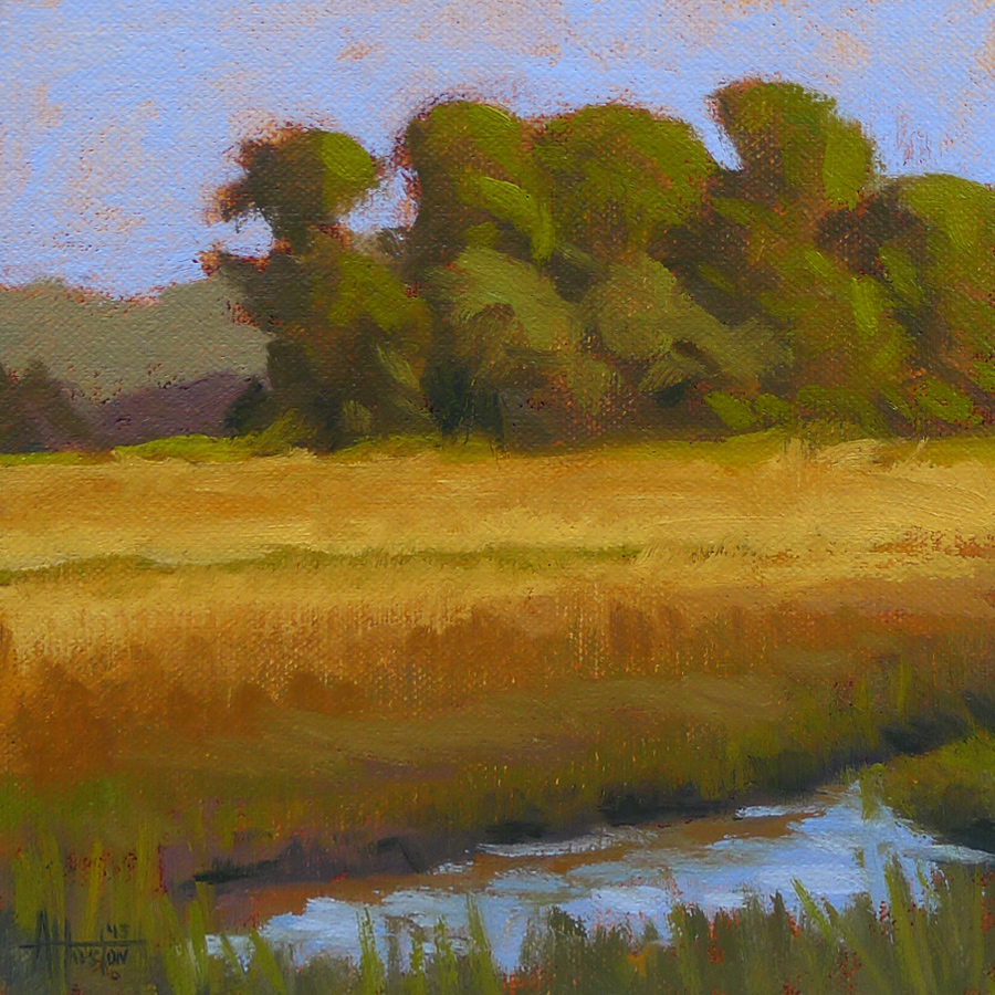 Jekyll Island Marsh III - Impressionist Painting by Adam Houston