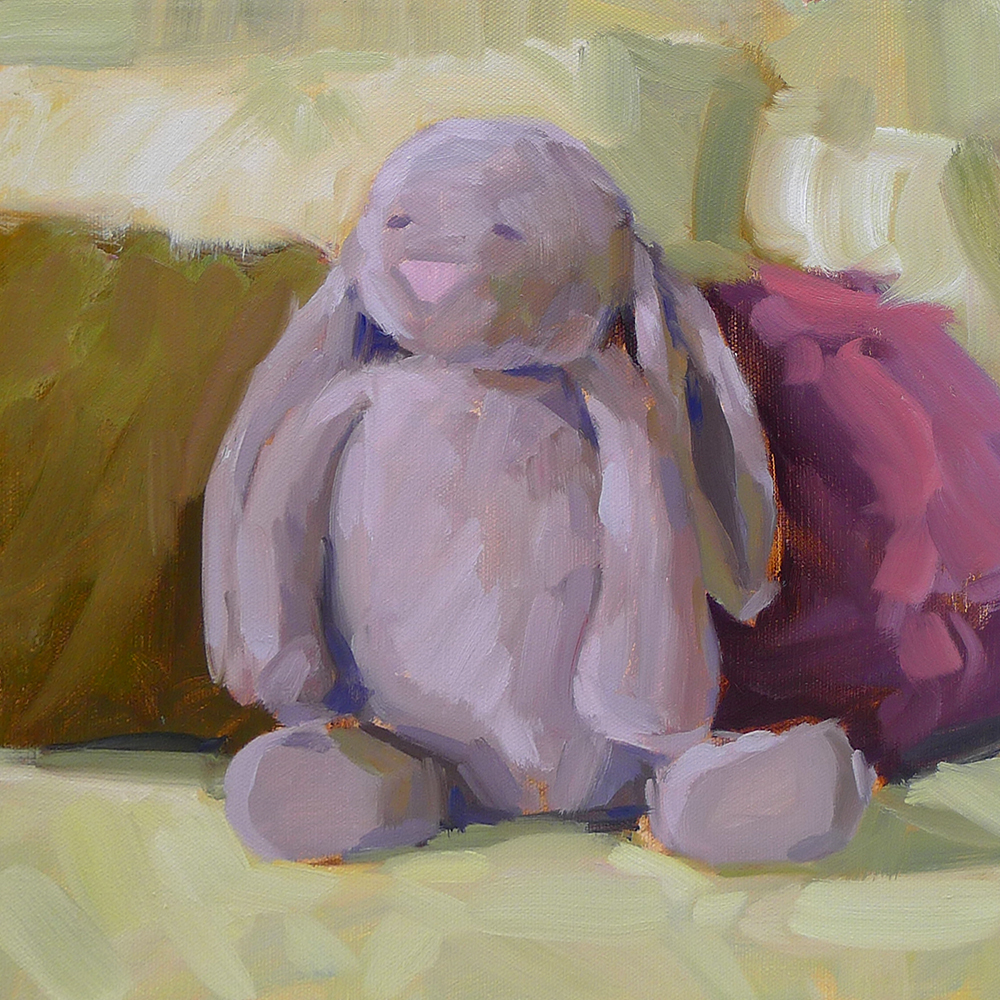 Bunny - Impressionist Painting by Adam Houston