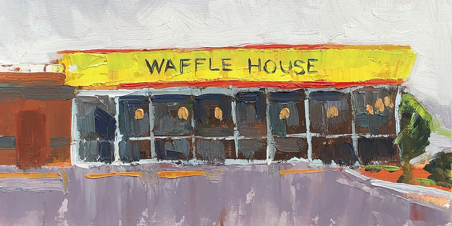 Waffle House #127 - Impressionist Painting by Adam Houston