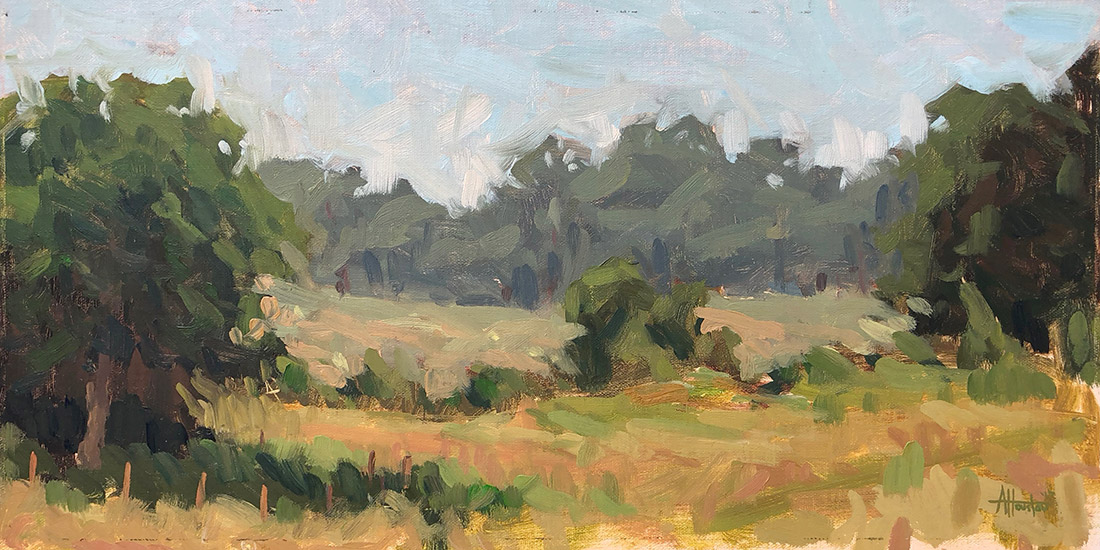 Making Hay - Impressionist Painting by Adam Houston