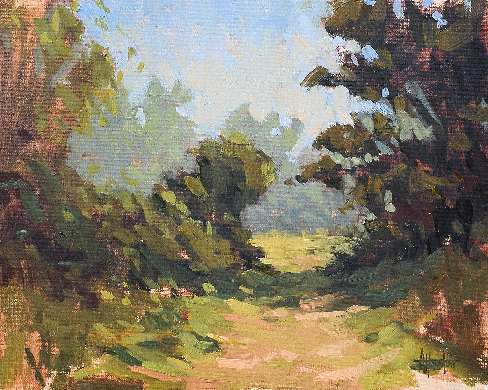 Forgotten Path - Impressionist Painting by Adam Houston