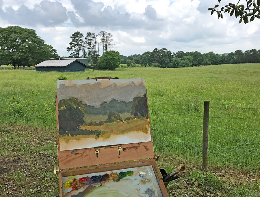 Adam Houston Plein Air painting