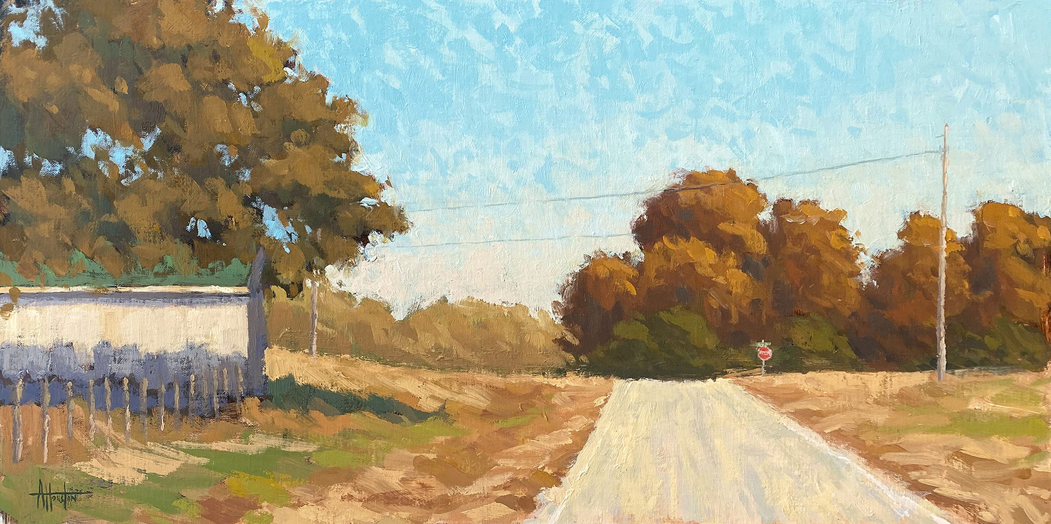 Stop Ahead - Impressionist Painting by Adam Houston