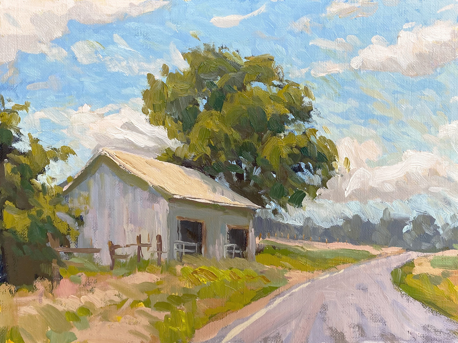 Around the Bend - Impressionist Painting by Adam Houston